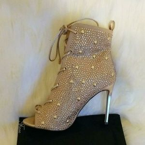 Shoes - Rose Gold Rhinestone Heels